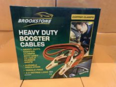 9 X BRAND NEW BROOKSTONE HEAVY DUTY BOOSTER CABLES