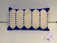 7 X BRAND NEW JAY ST. BLOCK PRINT COMPANY DALANA CUSHION RRP £30 (129/19)