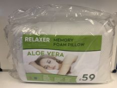 4 X MEMORY FOAM PILLOWS RRP £59.99 EACH