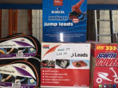 8 X BRAND NEW VARIOUS JUMP LEADS