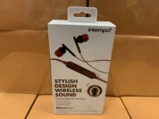 6 X BRAND NEW ITEMPO STYLISH DESIGN WIRELESS SOUND BLUETOOTH EARPHONES