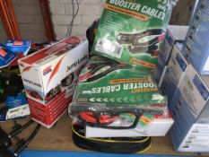 11 X VARIOUS BRAND NEW JUMP LEADS AND BOOSTER CABLES