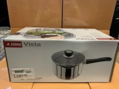 3 X BRAND NEW BOXED JUDGE VISTA 20XM SAUCEPANS IN 1 BOX