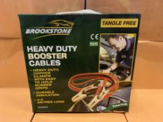 5 X BRAND NEW BROOKSTONE TANGLE FREE HEAVY DUTY BOOSTER CABLES