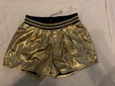 LITTLE MARC JACOBS GOLD SHORTS- AGE 12