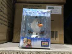 12 X DISNEY FROZEN 3D PUZZLE ERASER IN 1 BOX
