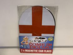 50 X BRAND NEW MAGNETIC ENGLAND CAR STICKERS