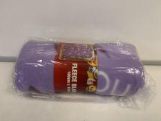 24 X BRAND NEW BOXED EMOJI UNICORN FLEECE BLANKETS