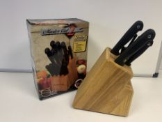 12 X BRAND NEW MASTER CUT 2 LIMITED BONUS PACK WITH 16 PIECE KNIFE BLOCK INCLUDING 4 KNIVES