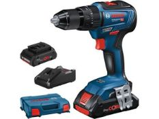 BRAND NEW BOSCH GSB18V-55, 2X4.0AH PROFESSIONAL CORDLESS IMPACT DRILL DRIVER WITH 2 BATTERIES AND