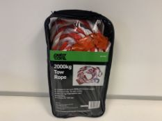 16 X BRAND NEW AUTOCARE 2000KG TOW ROPES