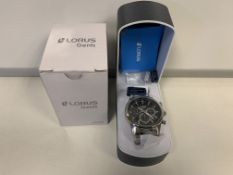 BRAND NEW RETAIL BOXED LORUS MENS WATCH SPORTS CHRONOGRAPH