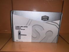 10 X BRAND NEW SMITH AND LOCKE T-BAR LOB LATCH POLISHED CHROME HANDLES