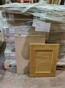 (P12) PALLET TO CONTAIN 100 x NEW BOXED SOLID OAK KITCHEN DOOR PACKS