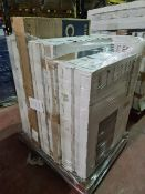(M18) PALLET TO CONTAIN 8 x VARIOUS RETURNED TVS TO INCLUDE MEDION. SUCH AS: 43 & 50 INCH SMART FULL