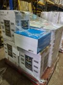 (M11) PALLET TO CONTAIN 8 X VARIOUS ITEMS TO INCLUDE AMBIANO DUAL ZONE WINE COOLER, MEDION