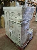 (M8) PALLET TO CONTAIN 10 VARIOUS ITEMS TO INCLUDE AMBIANO CHEST FREEZER, 43 INCH MEDION SMART TV,