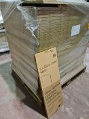 (P8) PALLET TO CONTAIN 172 x NEW BOXED GLOSS CREAM STYLE WALL END 290 DEEP PANELS