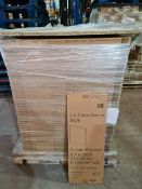 (P1) PALLET TO CONTAIN 172 x NEW BOXED GLOSS CREAM STYLE WALL END 290 DEEP PANELS