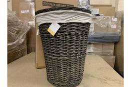 8 X BRAND NEW TESCO WICKER LAUNDRY BASKETS