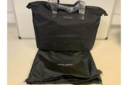 2 X BRAND NEW BLACK GIORGIO ARMANI TRAVEL BAGS
