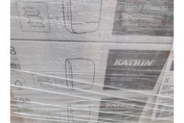 (J100) PALLET TO CONTAIN 35 x KATRIN HAND TOWEL DISPENSER WHITE