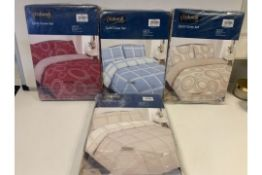 PALLET TO CONTAIN 100 X PACKAGED KING DUVET SETS (VARIOUS DESIGNS)