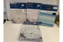 PALLET TO CONTAIN 100 X PACKAGED DOUBLE DUVET SETS (VARIOUS DESIGNS)
