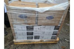 (J101) PALLET TO CONTAIN 12 x KATRIN HAND TOWEL DISPENSER WHITE & LARGE QTY OF DUNI NAPKINS