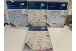 PALLET TO CONTAIN 100 X PACKAGED SINGLE DUVET SETS (VARIOUS DESIGNS)