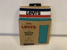 30 X BRAND NEW LEVI 2 PACK BOXER SHORTS GREEN SIZE 2XL