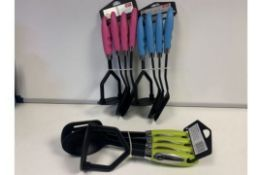 30 X BRAND NEW SETS OF 4 COLOURED HANDLES NYLON UTENSIL SETS (COLOURS MAY VARY)