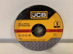 10 X BRAND NEW PACKS OF JCB 125MM METAL CUTTING DISKS (642/16)