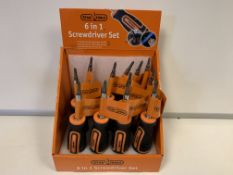 36 X BRAND NEW STAG TOOLS 6 IN 1 SCREWDRIVER SETS IN DISPLAY BOXES