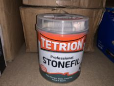 11 X BRAND NEW TETRION PROFESSIONAL STONEFIL 900ML TUBS