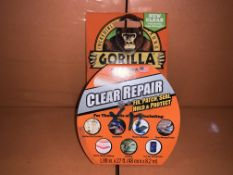 12 X BRAND NEW GORILLA CLEAR REPAIR TAPE