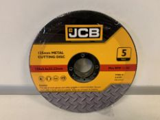 10 X BRAND NEW PACKS OF JCB 125MM METAL CUTTING DISKS (641/16)