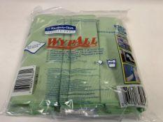 36 X BRAND NEW PACKS OF 6 KIMBERLEY CLARK PROFESSIONAL WYPALL 40 X 40CM MICROFIBRE CLOTHS