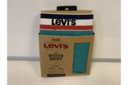 30 X BRAND NEW LEVI 2 PACK BOXER SHORTS GREEN SIZE XL
