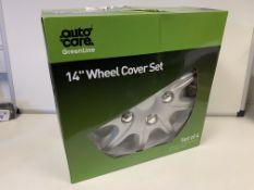 4 X BRAND NEW SETS OF 4 14 INCH WHEEL COVER SETS