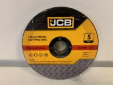 10 X BRAND NEW PACKS OF JCB 125MM METAL CUTTING DISKS (643/16)