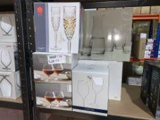 10 X VARIOUS SETS OF GLASSES INCLUDING RCR, BRANDY GLASSES ETC