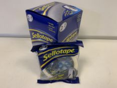 72 X BRAND NEW SELLOTAPE 2 IN 1 CLEVER TAPE IN 3 BOXES