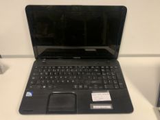 TOSHIBA C855 LAPTOP, WINDOWS 10, 15.6 INCH SCREEN WITH CHARGER