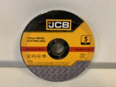 10 X BRAND NEW PACKS OF JCB 125MM METAL CUTTING DISKS