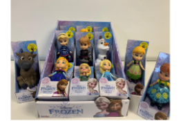 24 X BRAND NEW BOXED MINI FROZEN 2 ASSORTED DOLLS