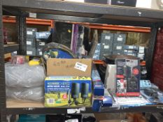 40 PIECE MIXED LOT INCLUDING JUMPSTART CHARGERS, MOONRAKER DTV1000, WIPER BLADES, ETC