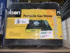 4 X BRAND NEW ROLSON PORTABLE GAS STOVES