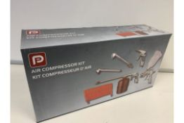 4 x NEW BOXED 6 PIECE AIR COMPRESSOR KITS. RRP £59 EACH