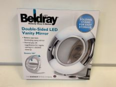 7 X BRAND NEW BELDRAY DOUBLE SIDED LED VANITY MIRRORS
